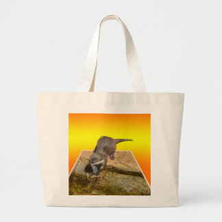 Otterly Orange, Large Tote Bag