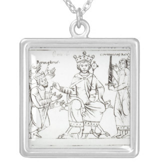 Otto I Submitting to Berenger II Square Pendant Necklace