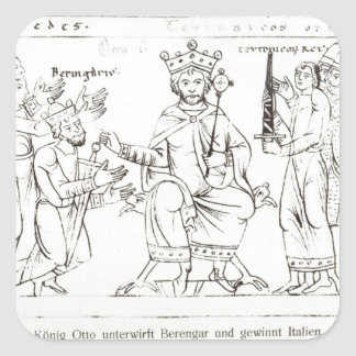 Otto I Submitting to Berenger II Square Sticker