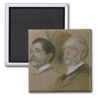 Otto von Bismarck and his Son Herbert Magnet