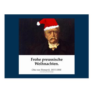 Otto von Bismarck - glad one Prussian Christmas Postcard