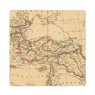 Ottoman Empire Maple Wood Coaster