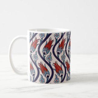 Ottoman Empire Tulip Pattern Coffee Mug