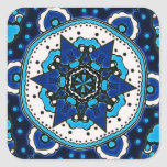 Ottoman  Islamic Tile Design With Geometry Square Sticker