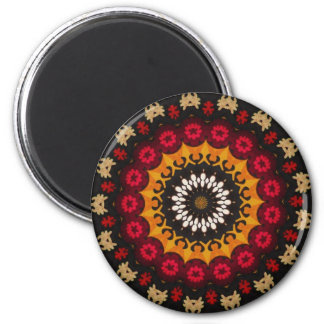 OTTOMAN Turkish textile with embroidered flowers Refrigerator Magnet