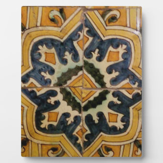 Ottoman Turkish vintage ceramic tile yellow star Plaque