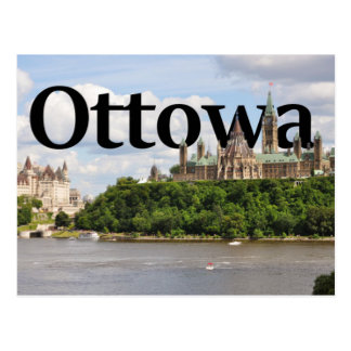 Ottowa, Canada Skyline with Ottowa in the Sky 2 Postcard