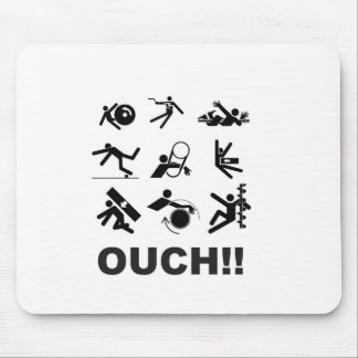 ouch pain mouse pad