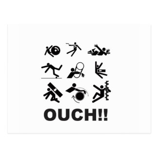 ouch pain postcard