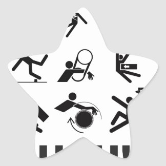 ouch pain star sticker