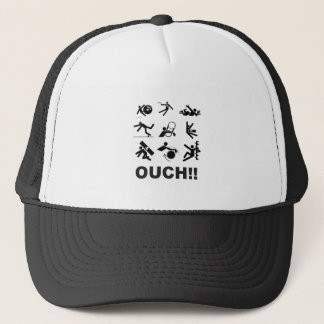 ouch pain trucker hat