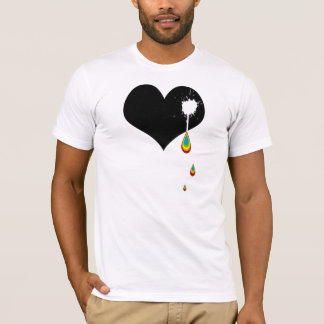 ouch. rainbow heart. T-Shirt