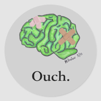 """""""Ouch"""" stickers"""