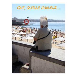 Ouf! Quelle chaleur (french, francais) funny Postcard