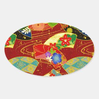 Ougi Oval Sticker