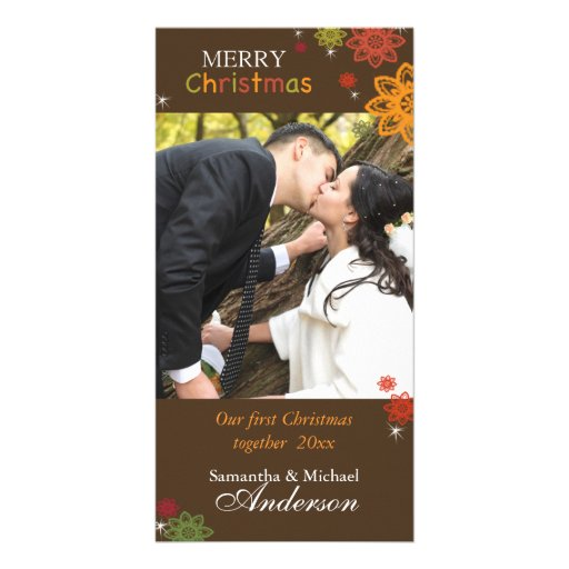 Our 1st Christmas Together Lovely Couple Photocard Photo Card