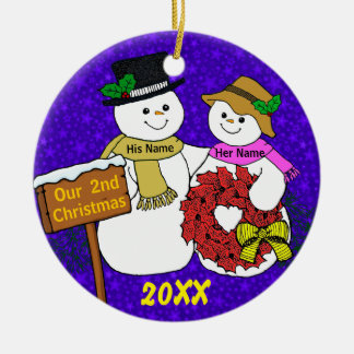 Our 2nd Christmas Ceramic Ornament