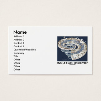 Our 4.5 Billion Year History (Geological Timeline) Business Card
