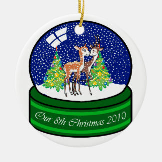 Our 8th Christmas Deer Ornament Couple