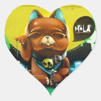 Our Adorable Bear Heart Sticker