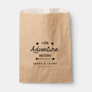 Our adventure begins wedding favor bag favour bags