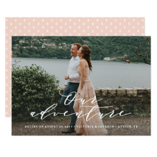 Our Adventure Save the Date Photo Announcement