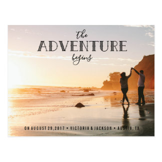 Our Adventure Save the Date Photo HIPSTER Postcard