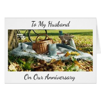 """""""OUR ANNIVERSARY"""" LET'S CELEBRATE """"US"""" HUSBAND CARD"""