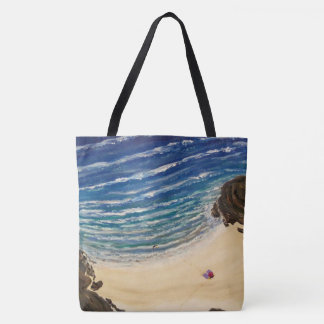 Our Beach top view Tote Bag