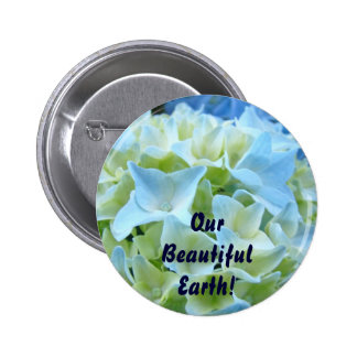 Our Beautiful Earth buttons promotional message