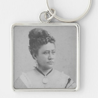 Our Beloved Queen Lili'uokalani Silver-Colored Square Key Ring