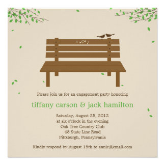Our Bench Engagement Party Invitation Custom Announcement