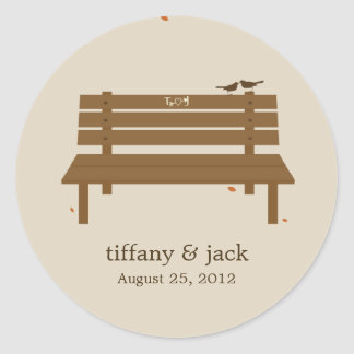 Our Bench Favor Sticker