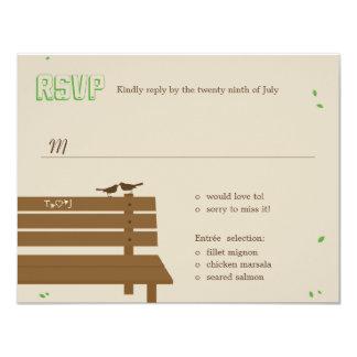 Our Bench Wedding RSVP /Response Cards 11 Cm X 14 Cm Invitation Card