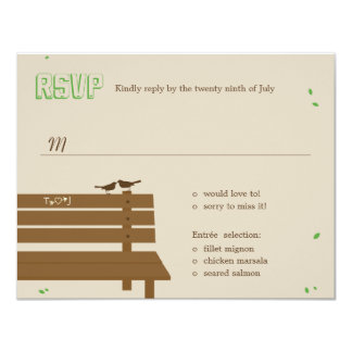 "Our Bench Wedding RSVP /Response Cards 4.25"" X 5.5"" Invitation Card"