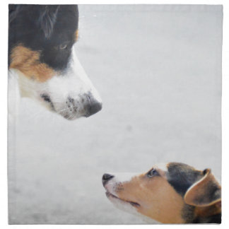 our best friends on four paws - serie 001 printed napkins