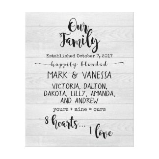 Our {Blended} Family Canvas Print