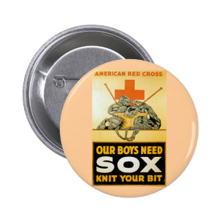 Our Boys Need Sox Knit Your Bit Button