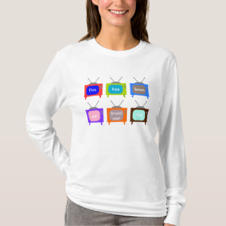 Our Broadcast Day Retro Television TV Design T-Shirt
