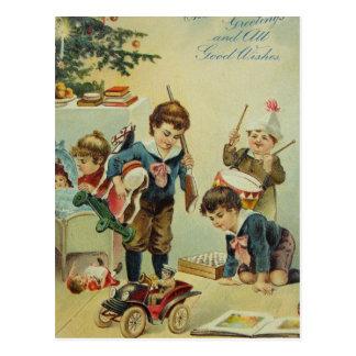 Our Christmas Toys - Edwardian Era Postcard