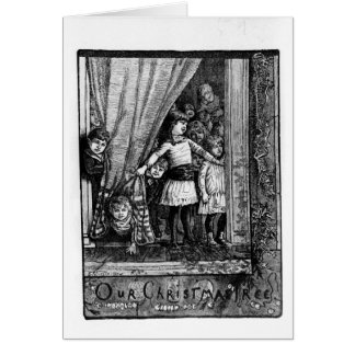 Our Christmas Tree Vintage Victorian Greeting Card