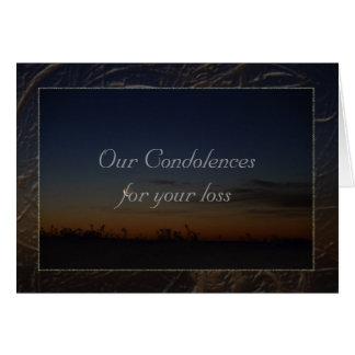 Our condolences card