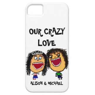 Our Crazy Love Cartoon Couple iPhone 5 Case