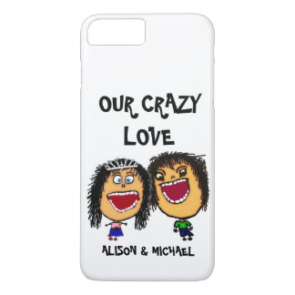 Our Crazy Love Cartoon Couple iPhone 8 Plus/7 Plus Case