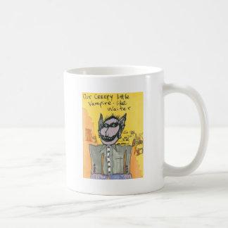 Our Creepy Little Vampire-like Waiter Basic White Mug