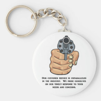 our-customer-service-is-unparalleled basic round button key ring