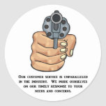 our-customer-service-is-unparalleled classic round sticker