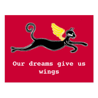 Our dreams give us wings postcard