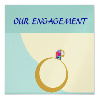 Our Engagement>Zazzle custom card 13 Cm X 13 Cm Square Invitation Card