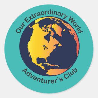 Our Extraordinary World Adventurer's Club Round Sticker